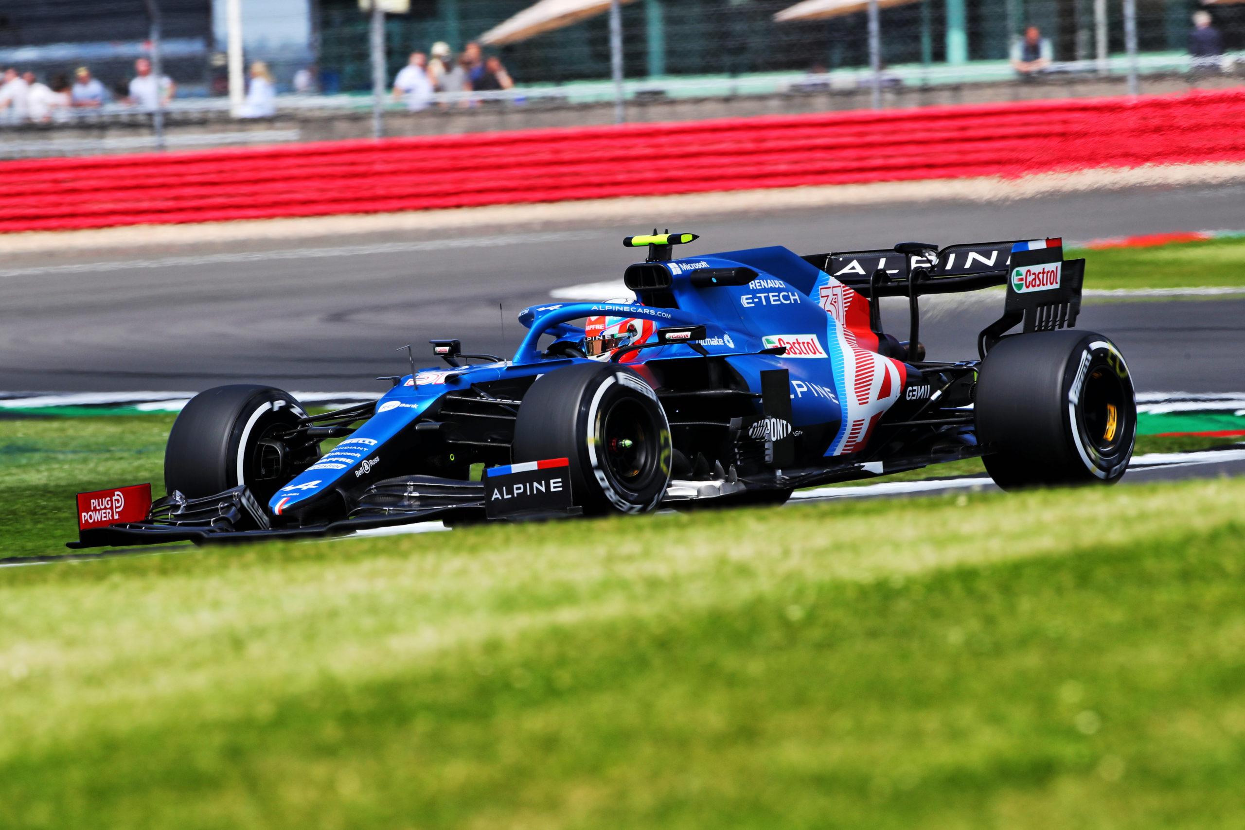 NORTHAMPTON, ENGLAND - JULY 16: Esteban Ocon of Spain. Alpine F1 Team, British GP 2021.