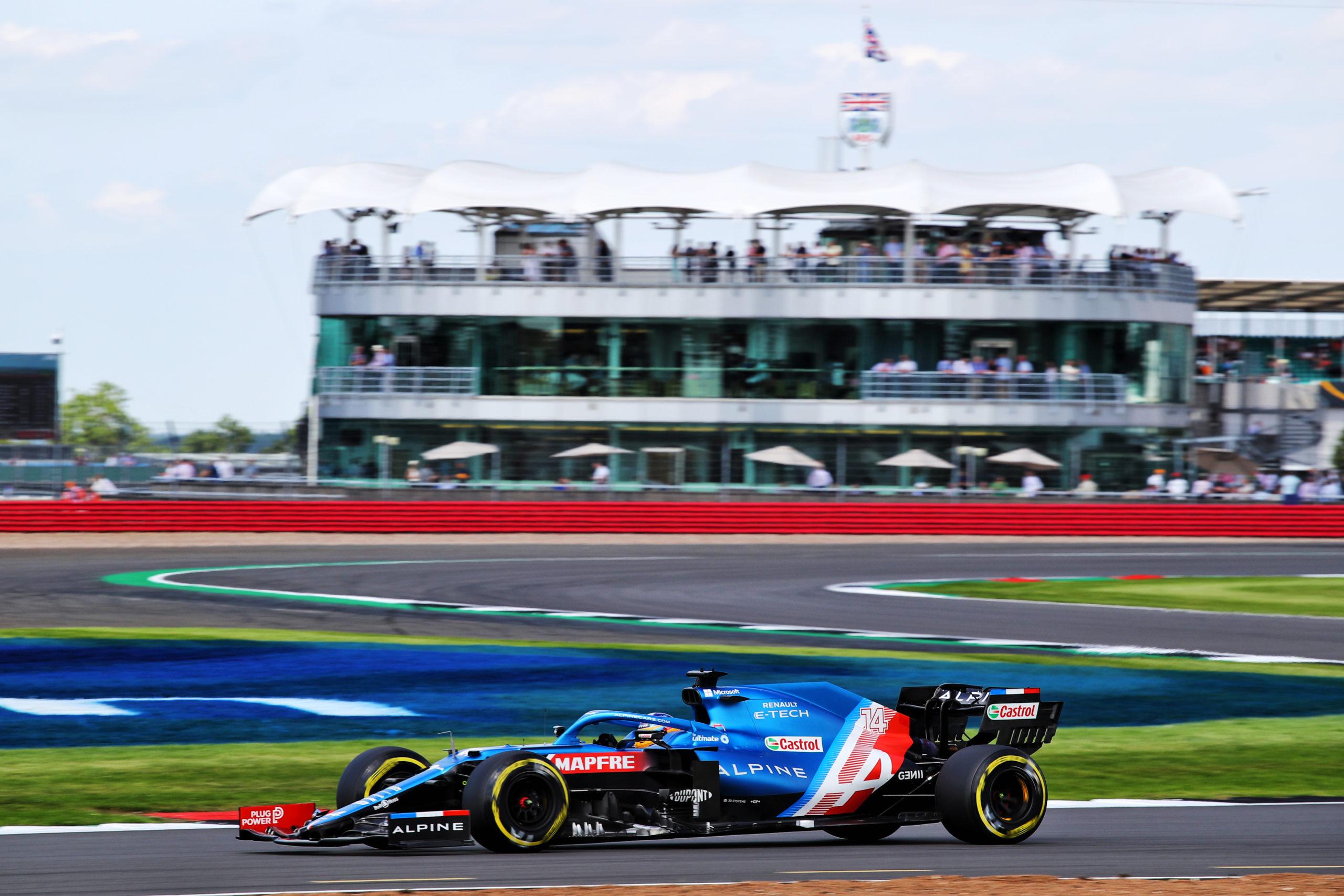 NORTHAMPTON, ENGLAND - JULY 16: Fernando Alonso of Spain. Alpine F1 Team, British GP 2021.