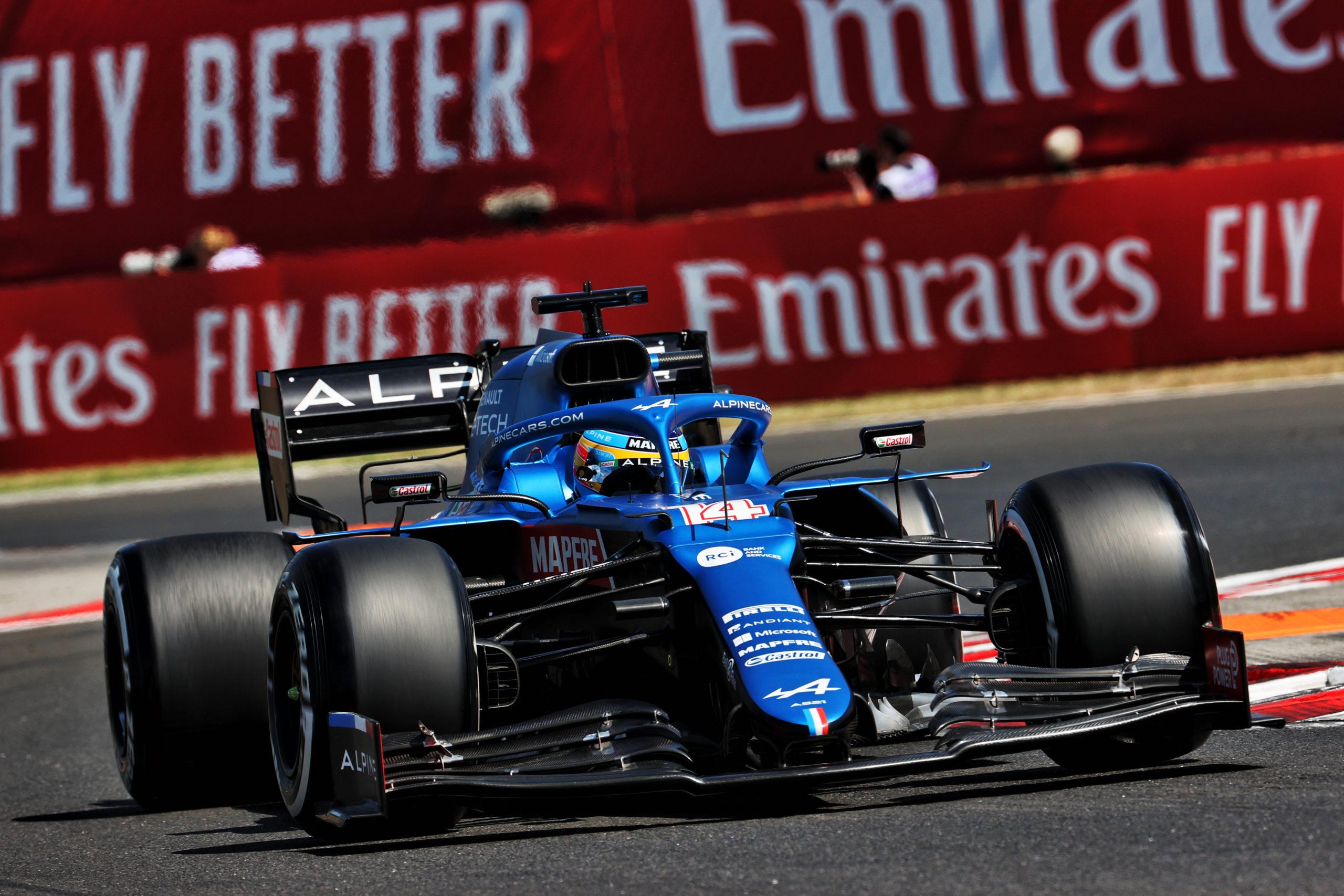 Fernando Alonso (ESP) Alpine F1 Team A521, F1 Grand Prix of Hungary at Hungaroring on July 30, 2021