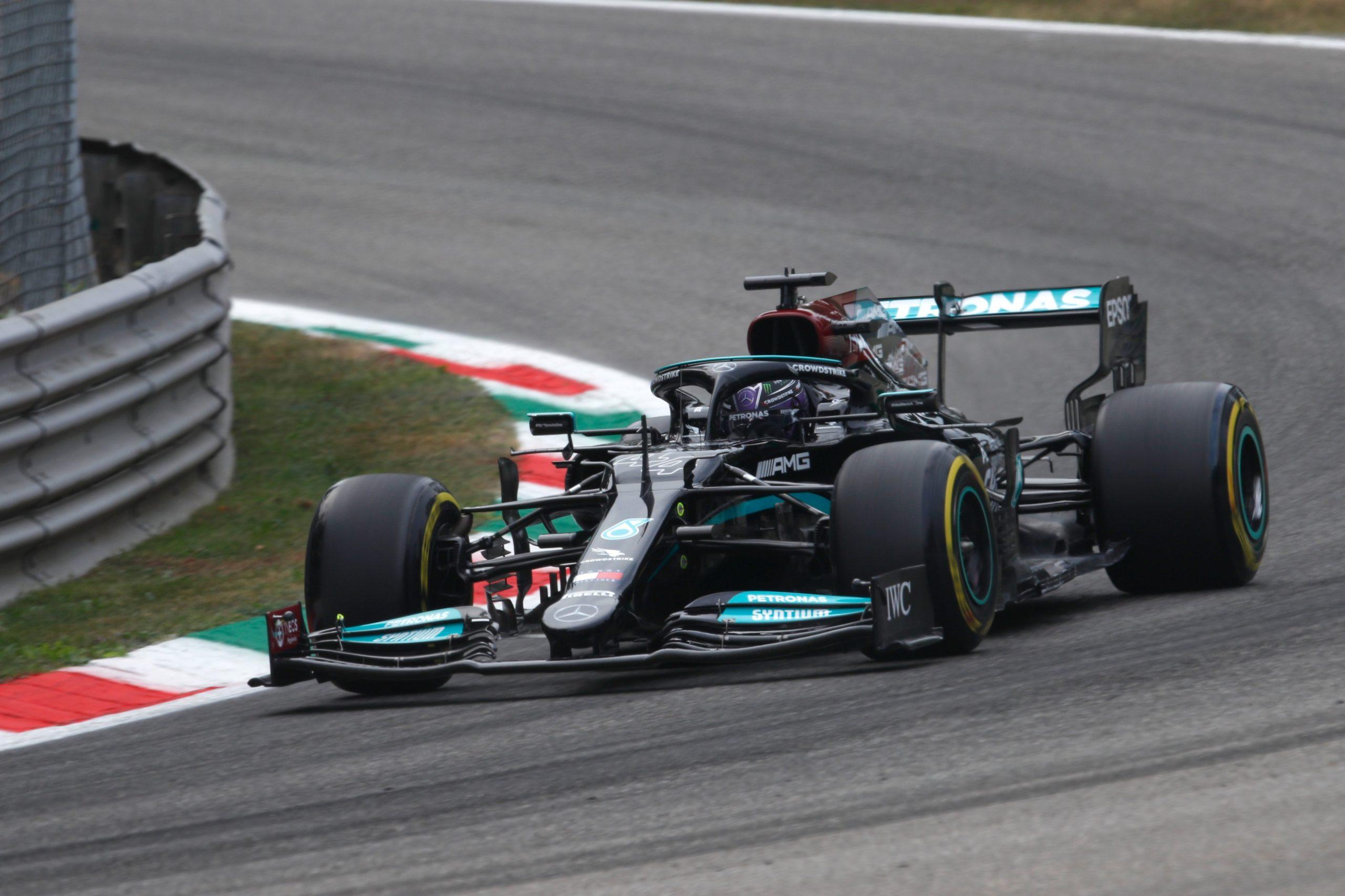 Lewis Hamilton, Mercedes, 2021 Italian Grand Prix, Friday - Copyright: Mercedes Twitter