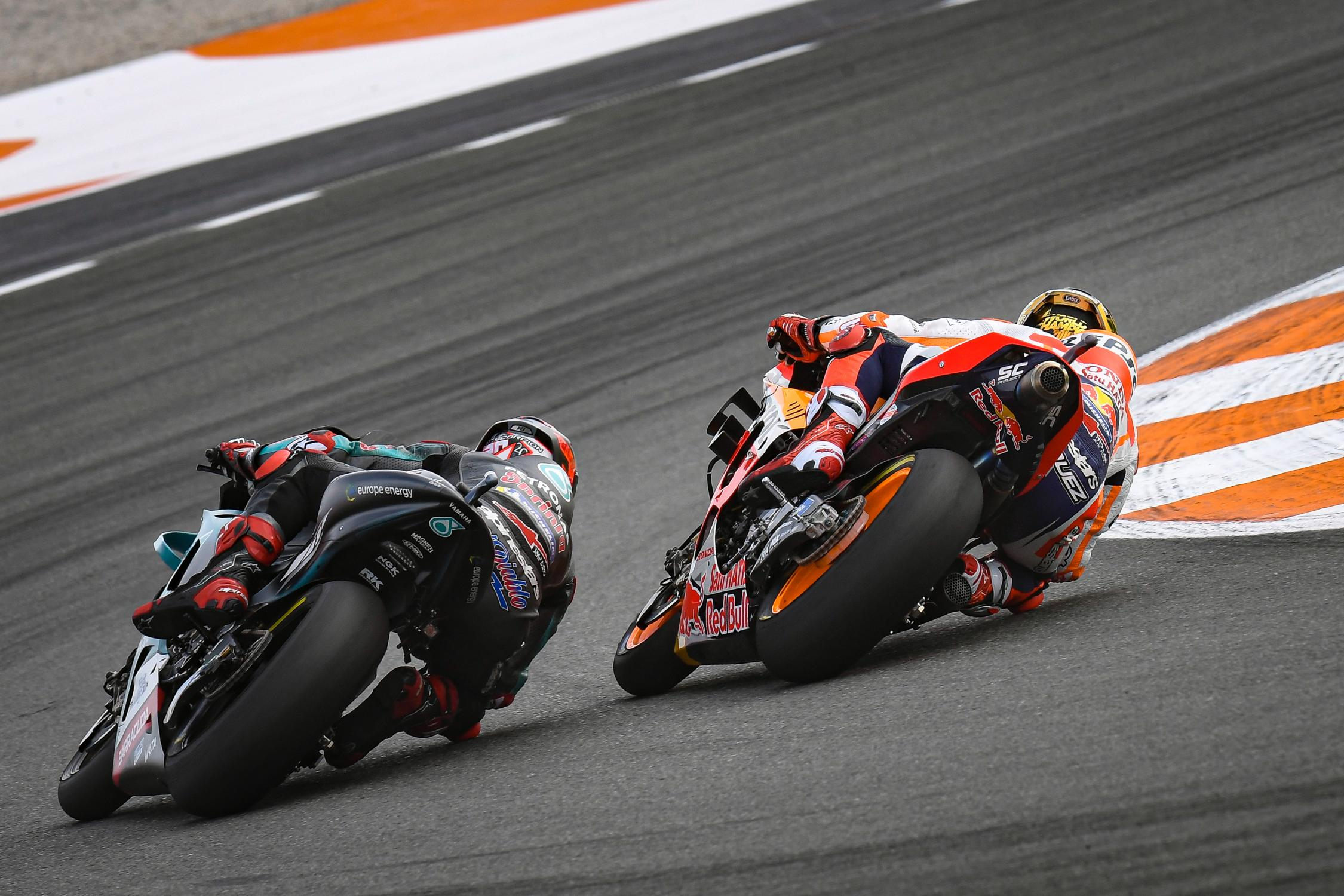 Fabio Quartararo, Marc Marquez, Valencia 2020, MotoGP