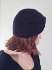 Turbante negro tejido y bordado