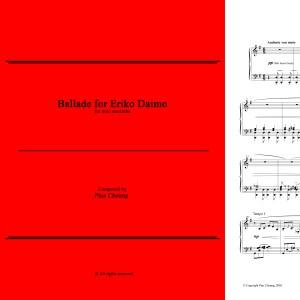 Ballade for Eriko Daimo (solo marimba)