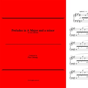 Preludes in A Major & a minor (solo marimba)