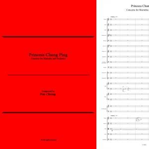 Princess Chang Ping (concerto for marimba & orchestra - full score)