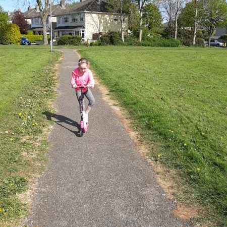 """Emma Sr Inf Ms Durkan """"Active week- I am going on my scooter"""""""