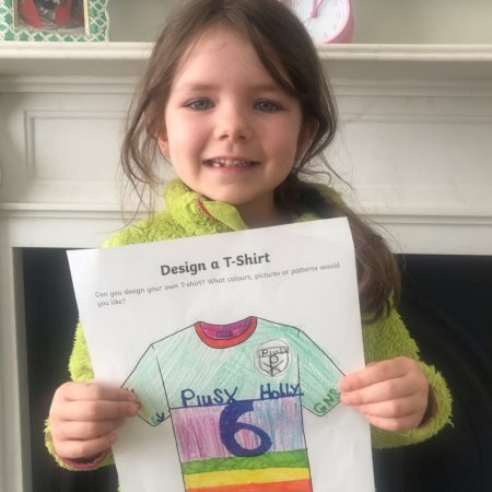 """Holly SI Ms. Godson """"Holly Designed a Sports Jersey for her Geography homework and for Active Home week"""""""