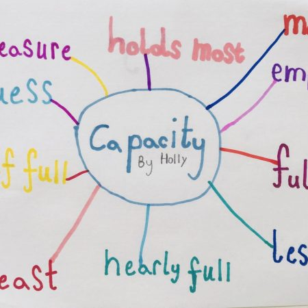 """Holly Sr. Inf Ms.Godson """"Designing a poster using newly learned words on capacity"""""""