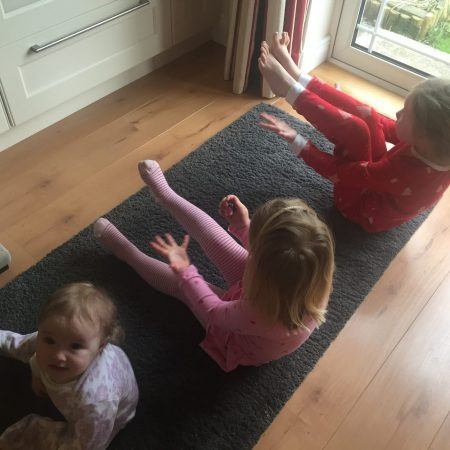 """Lucy Sr. Inf Ms. Godson """"I do cosmic yoga with my little sisters every morning"""""""