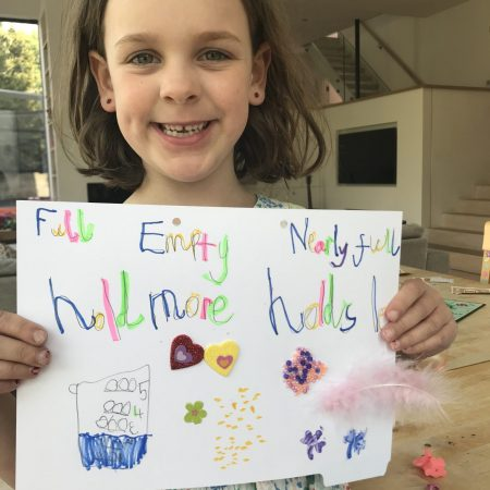 """Mia Sr Inf Ms. Godson """"Mia says thank you Ms Godson for all the fun projects. She really enjoyed the capacity maths this week. This is her poster"""""""