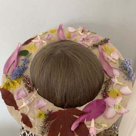 """Aisling Sr Inf Ms Durkan """" I made a May crown using flowers and leaves from my garden"""""""