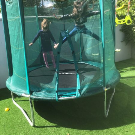 """Millie Sr Inf Ms Durkan """"Jumping on her trampoline"""""""