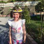 """Roisin Sr Inf Ms Durkan """"Róisín has great fun making her Flower Crown for May. She collected the wildflowers on her afternoon walk in Bushy Park & really enjoyed it!"""""""