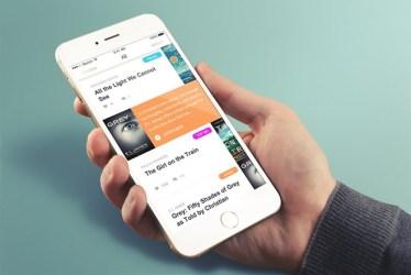Book App UI Design Sketch Free Download
