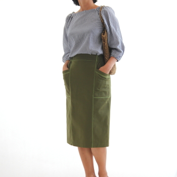 東京青山の初心者向けマンツーマン洋裁教室で簡単タイトスカート製作、外苑前、表参道、港区