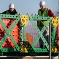 Working on the Meccano Bridge by David Dixon.