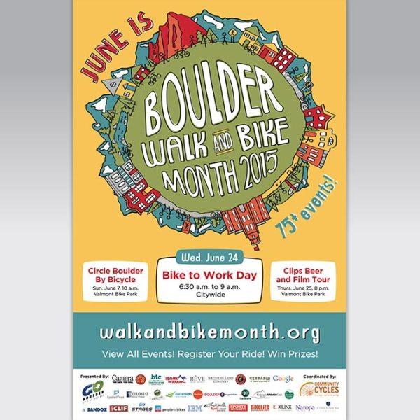 Poster for Boulder Walk and Bike Month