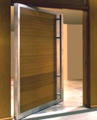 steel exterior double doors | Pivot Door Inc