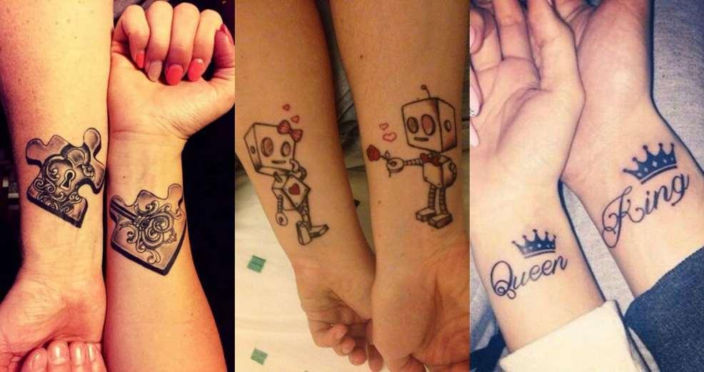 парные тату 100 идей для друзей влюбленных и двоих подруг фото