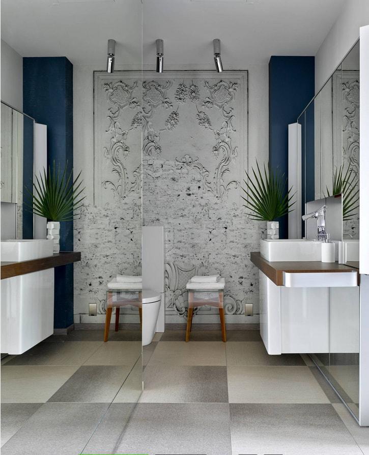дизайн маленькой ванной комнаты фото 2019 современные идеи 6