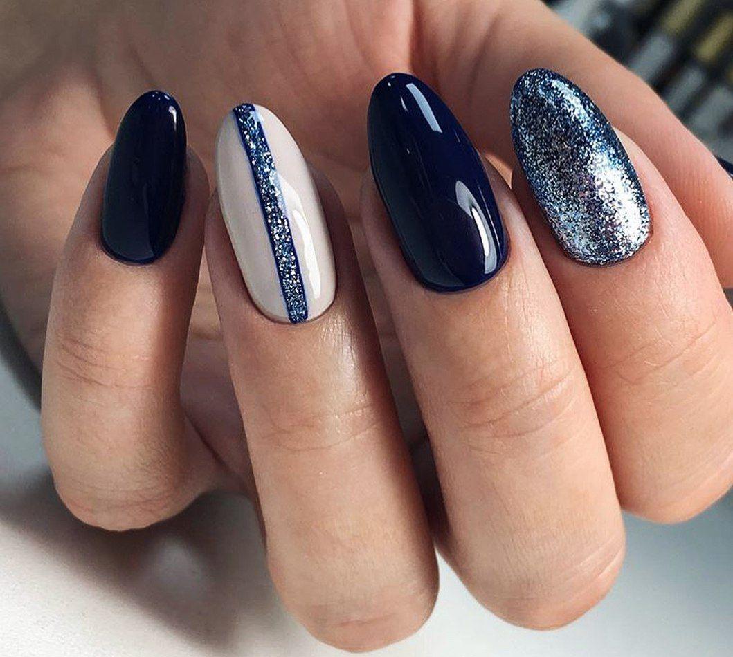 дизайн ногтей зима 1