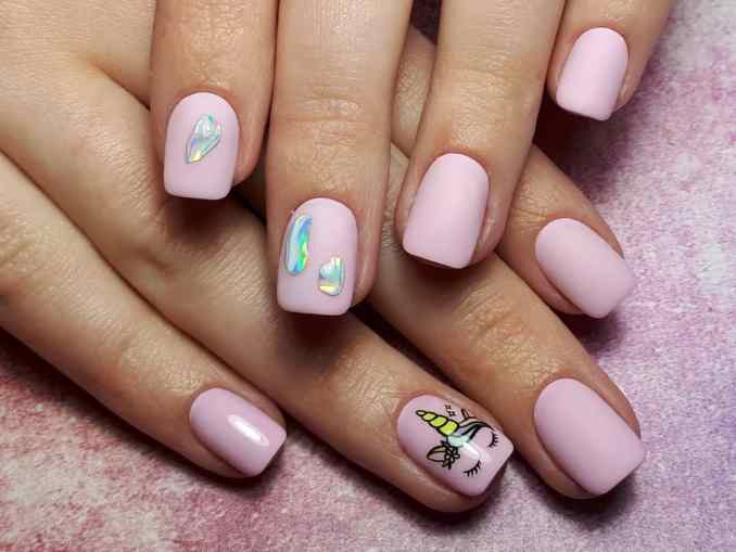 Bright nail art with a unicorn: stylish ideas for manicure in the photo and how to do it 46