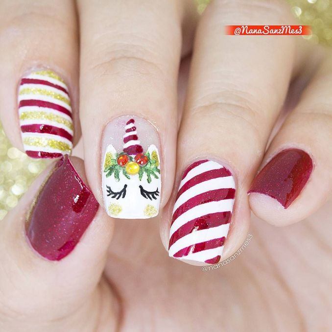 Bright nail art with a unicorn: stylish ideas for manicure in the photo and how to do it 43