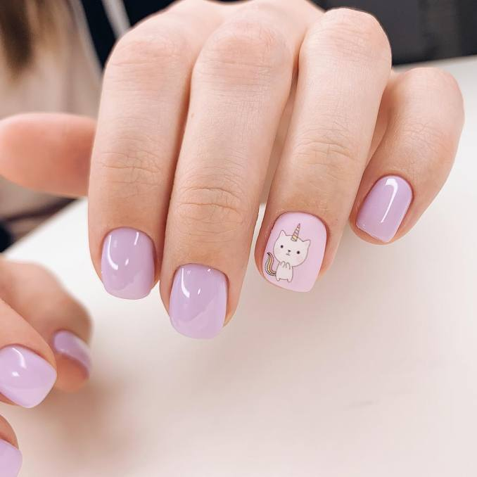 Bright nail art with a unicorn: stylish ideas for manicure in the photo and how to do it 49