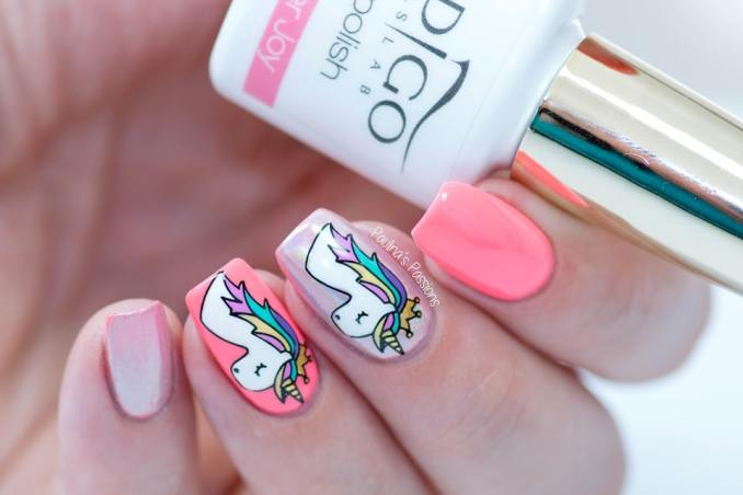 Bright nail art with a unicorn: stylish ideas for manicure in the photo and how to do it 88
