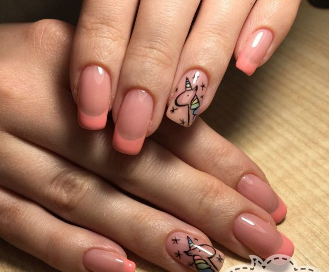 Bright nail art with a unicorn: stylish ideas for manicure in the photo and how to do it 64