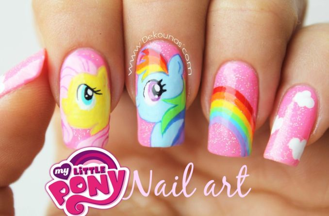 Bright nail art with a unicorn: stylish ideas for manicure in the photo and how to do it 14