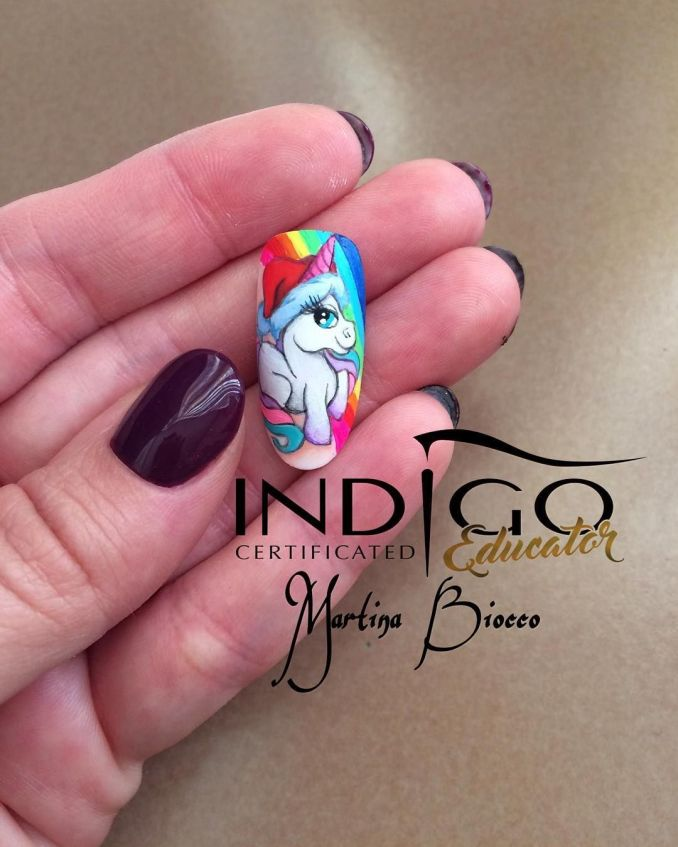Bright nail art with a unicorn: stylish ideas for manicure in the photo and how to do it 36