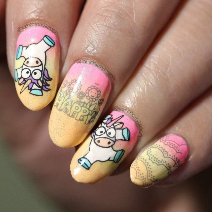 Bright nail art with a unicorn: stylish ideas for manicure in the photo and how to do it 83