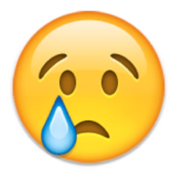 Image result for cry face emoji