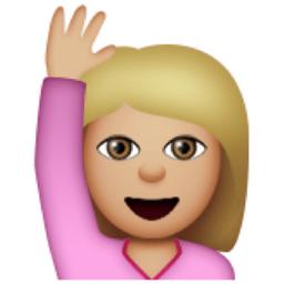 Image result for hand up emoji