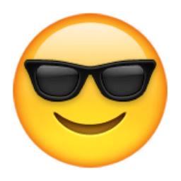 Image result for sunglasses emoji