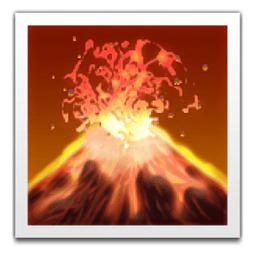 Image result for volcano emoji