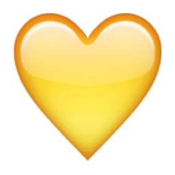 Image result for yellow love heart