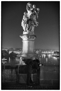 Night on Charles Bridge, Prague.