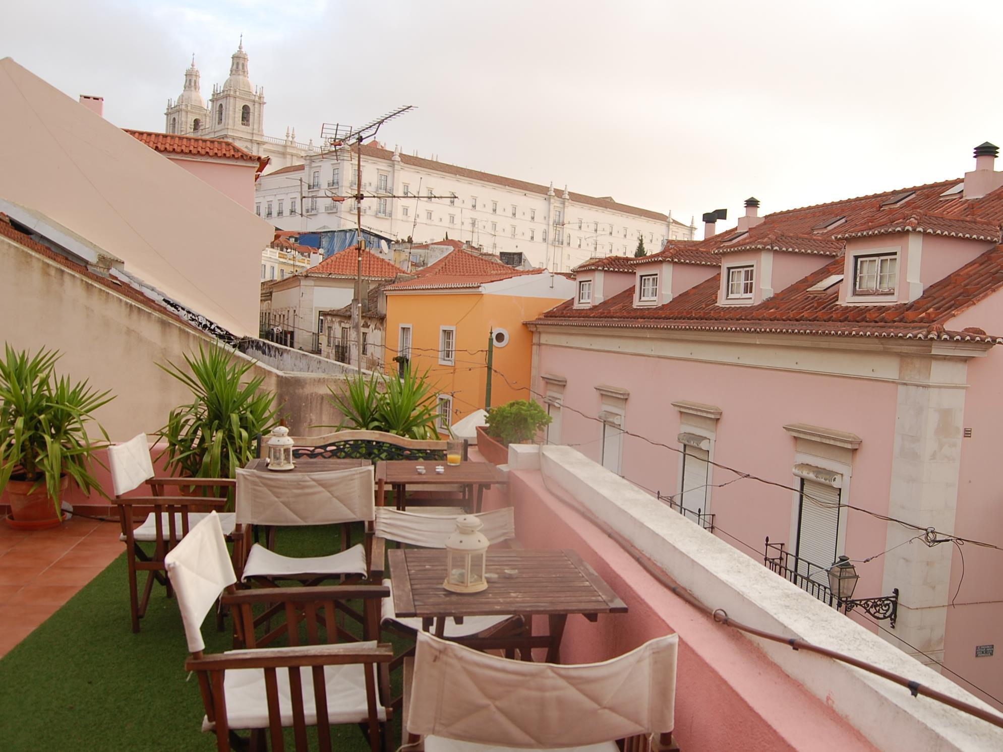 balcony terrace alfama patio hostel