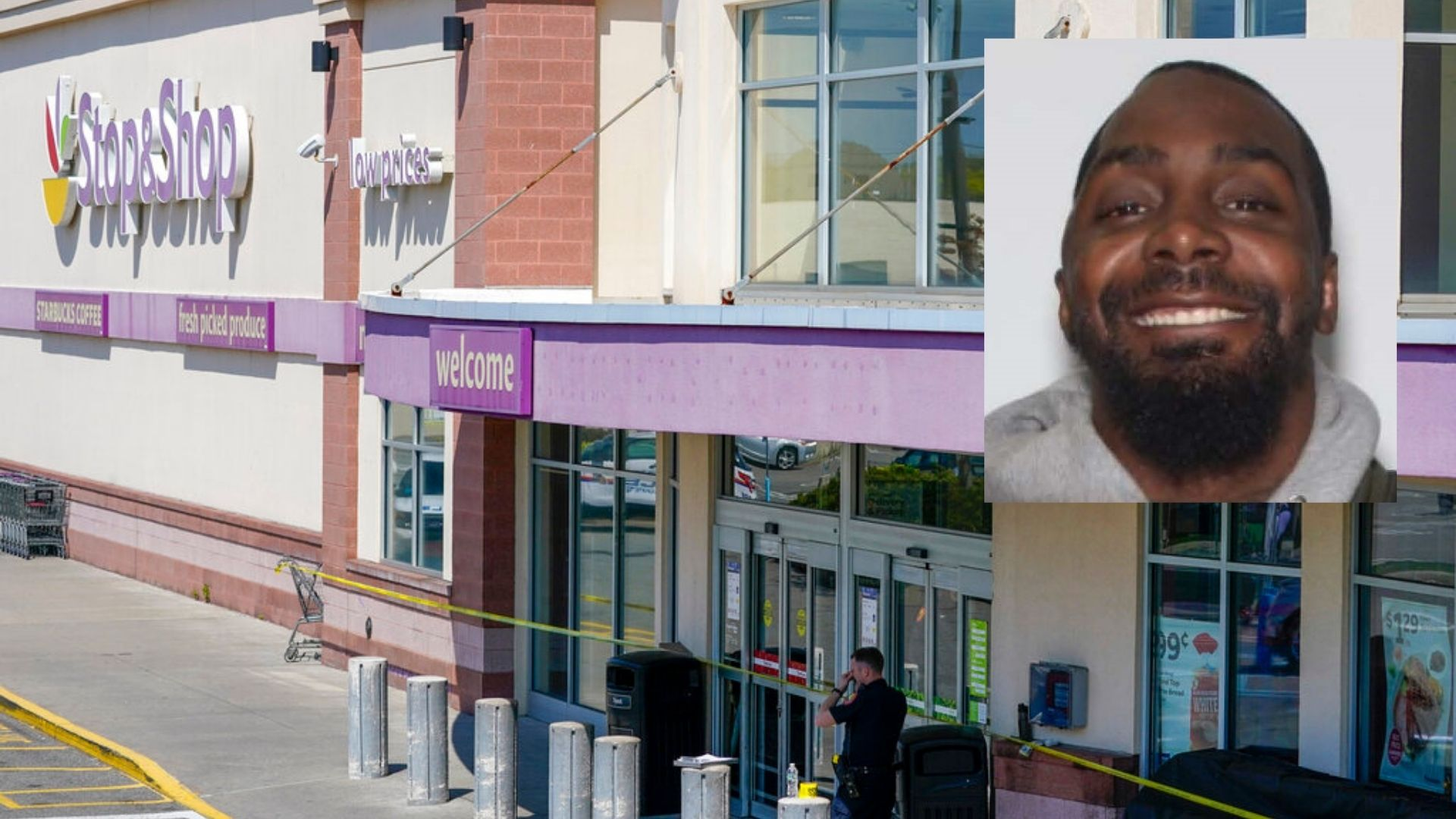 LI shooting suspect Gabriel DeWitt Wilson, right, and the stop & shop where he allegedly shot three people, left