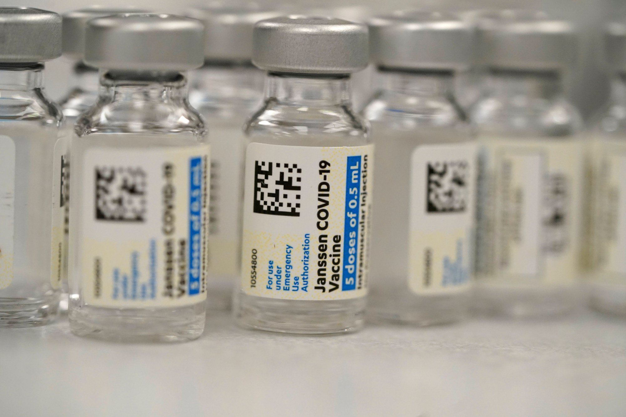 vials of johnson & johnson covid-19 vaccine