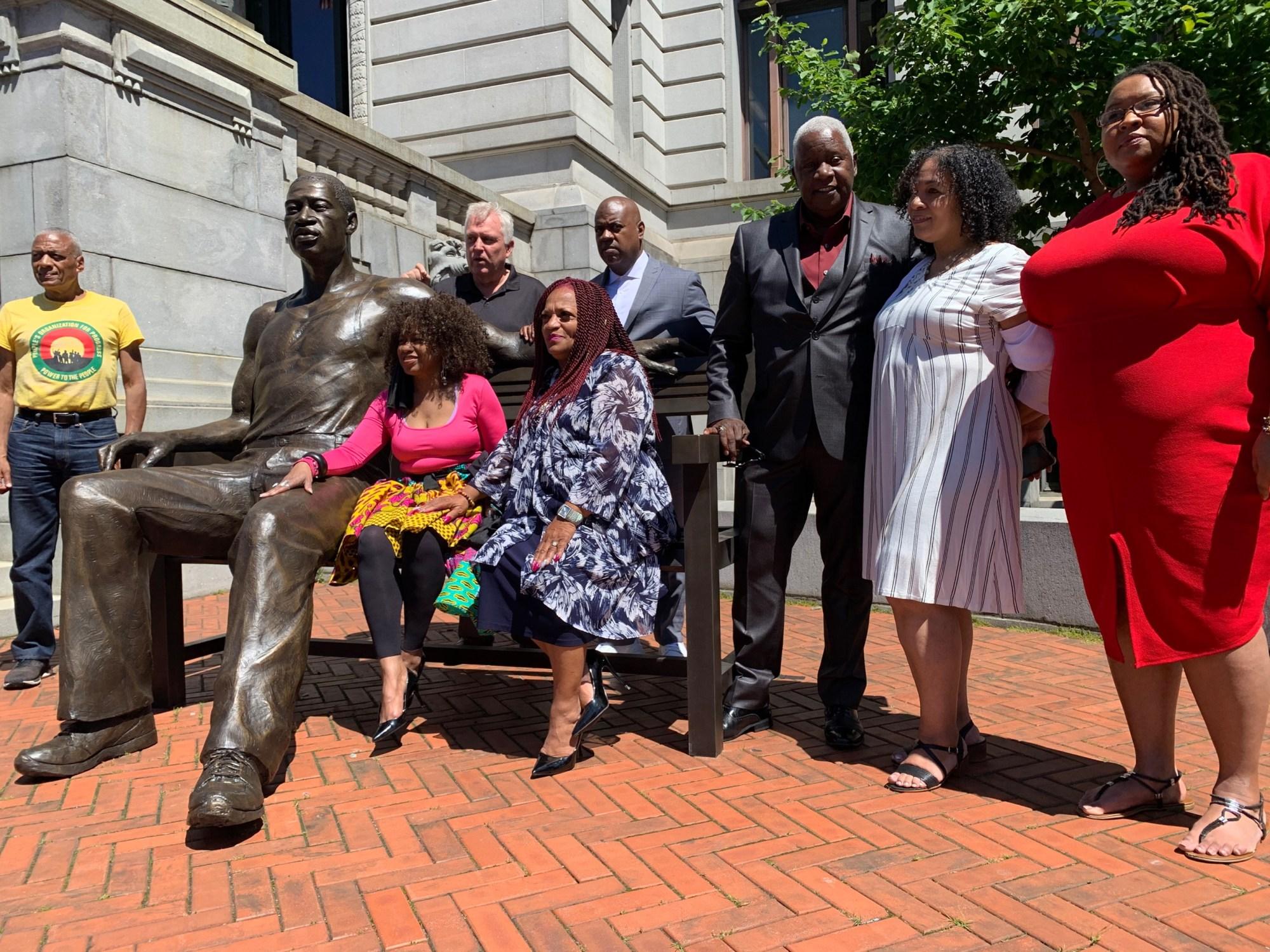 George Floyd statue in Newark