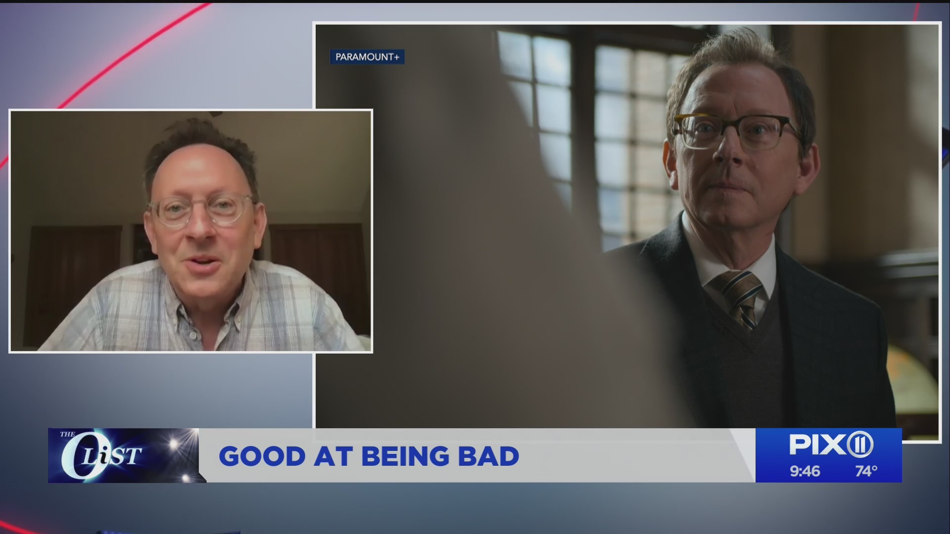 Actor Michael Emerson on the PIX11 Morning News