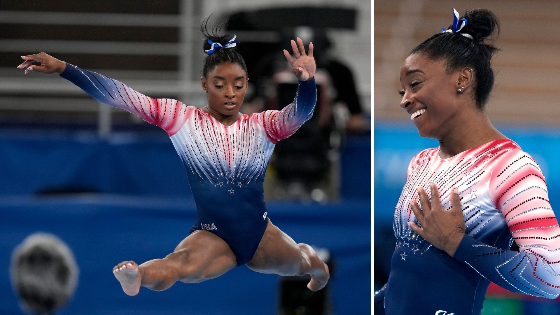 Simone Biles performs at the 2020 Summer Olympics