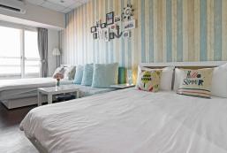 27平方米開放式公寓 (台北車站) - 有1間私人浴室 Taipei C Two Double Beds  4 People Taipei 101view