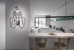 50平方米開放式獨立屋 (中山區) - 有1間私人浴室 Art Asylum|景觀陽台/吊床/唯美/4人房 行天宮捷運站5分鐘