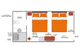 24平方米1臥室公寓 (穆安 / 帕南) - 有1間私人浴室 1R2B0S/F301 Suwatchai garden,Service Apartment