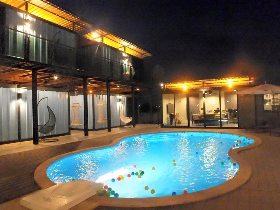 Blue Container Pool Villa Hua Hin Cha Am Thailand