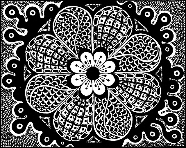 Zentangle Pictures, Drawing, Black And White, Art